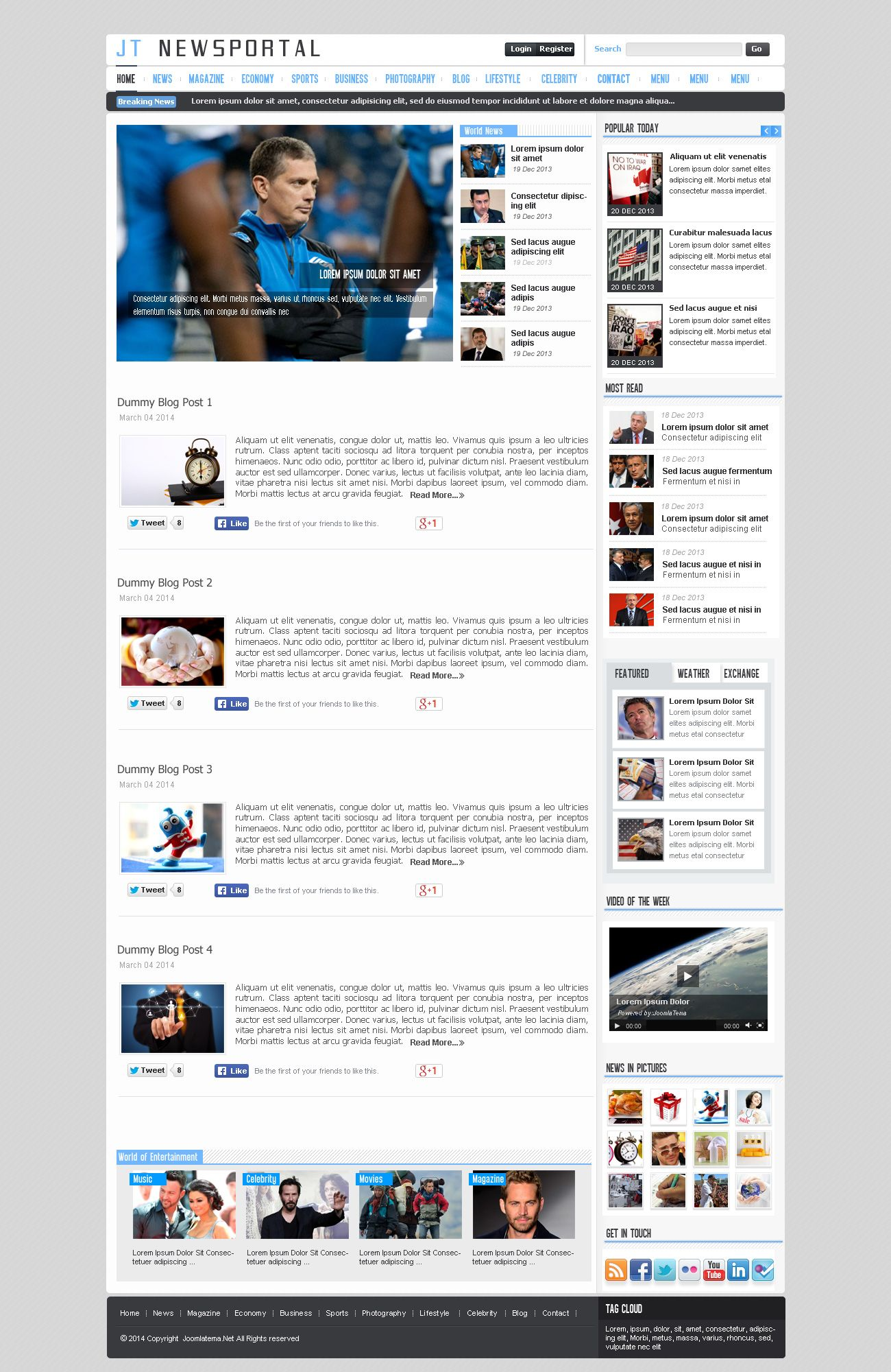 JT News Portal PSD Pack Screenshot 3