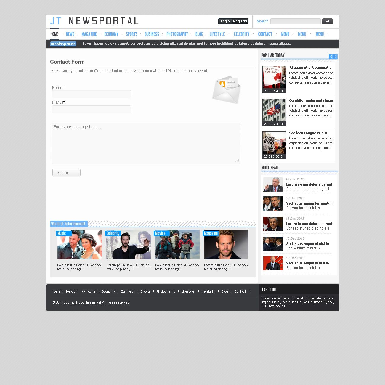 JT News Portal PSD Pack Screenshot 4