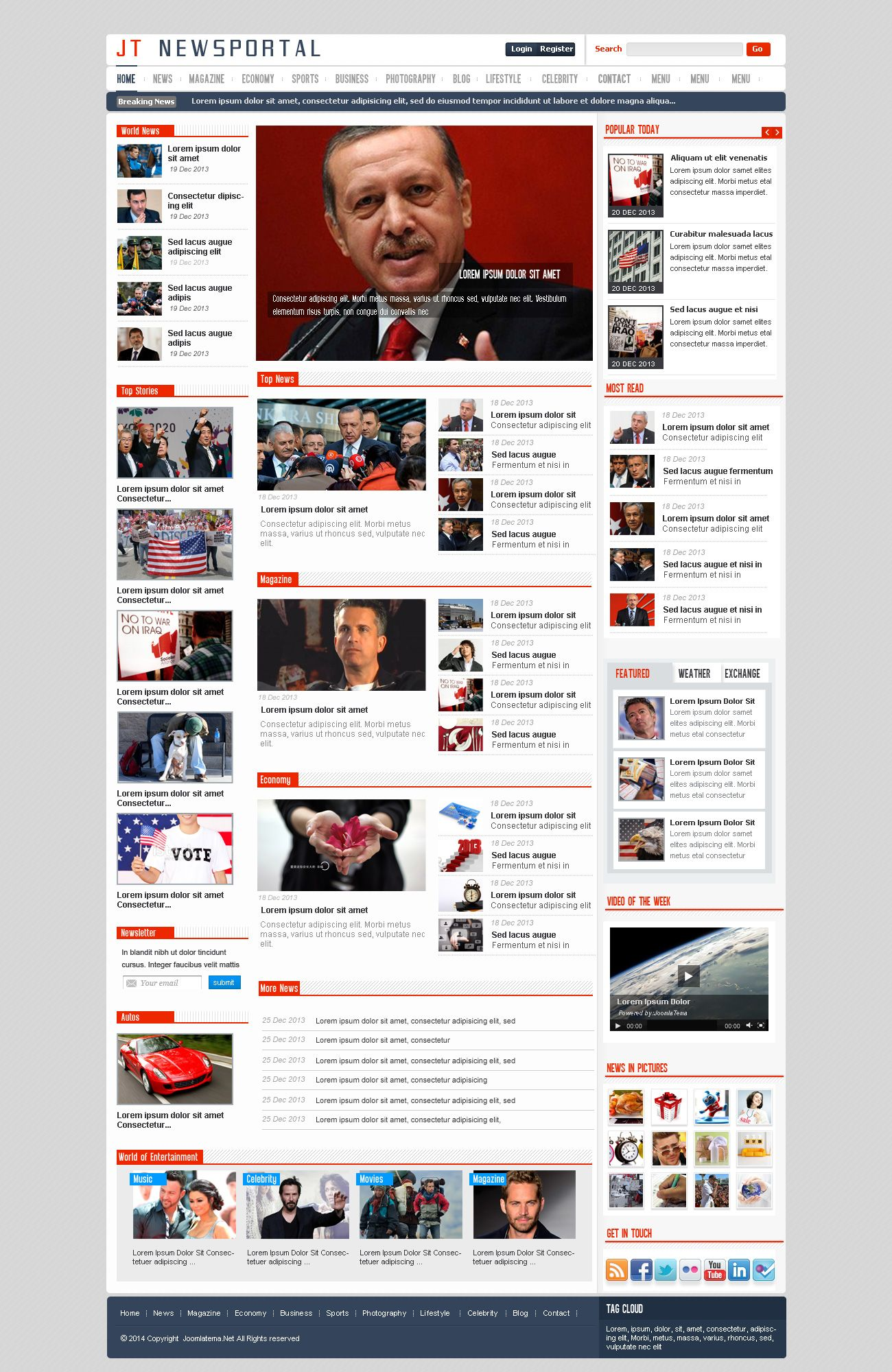 JT News Portal PSD Pack Screenshot 8