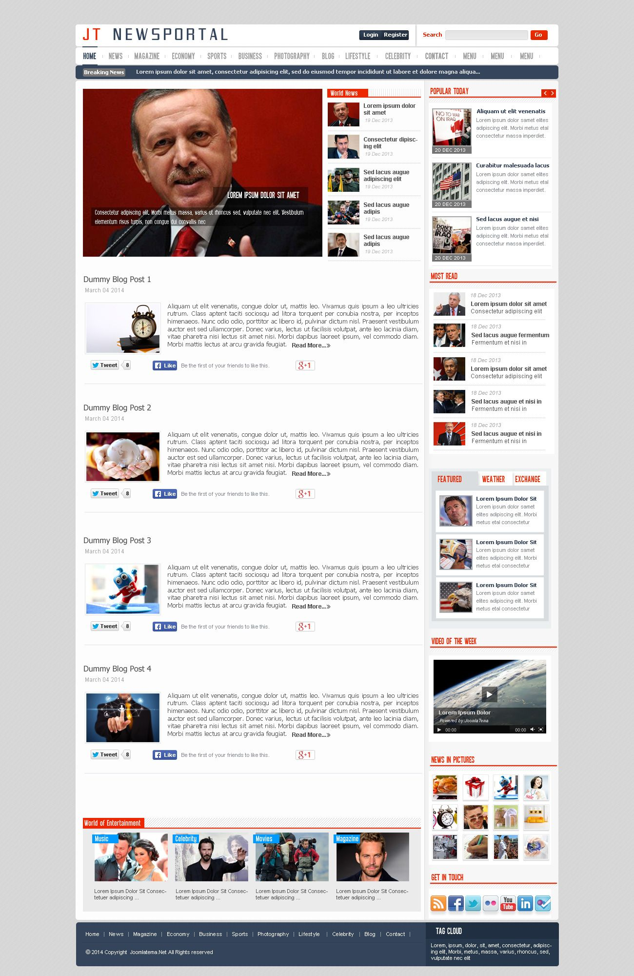 JT News Portal PSD Pack Screenshot 9