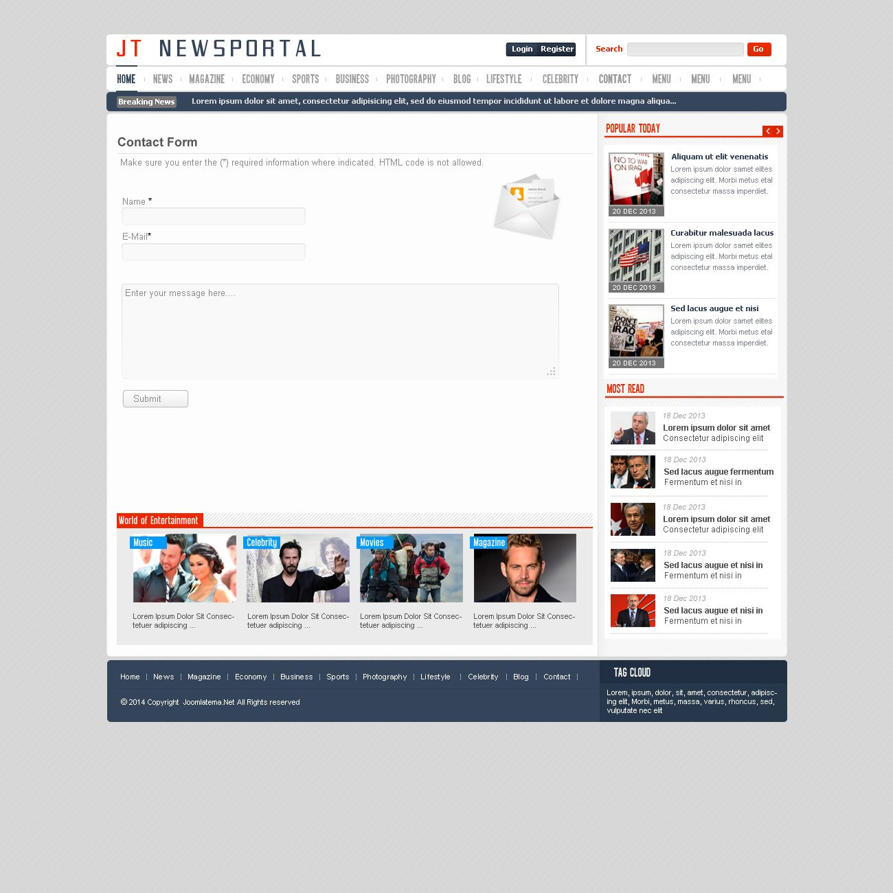 JT News Portal PSD Pack Screenshot 10