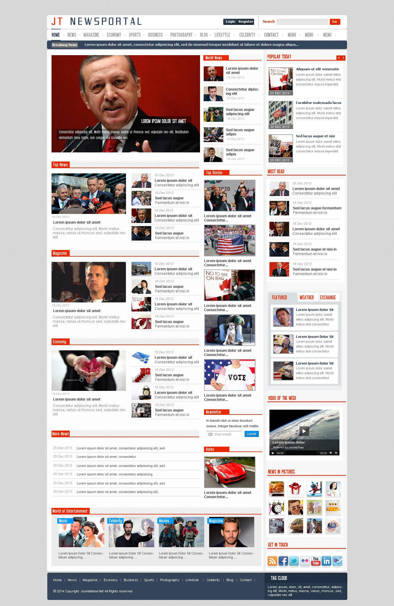 JT News Portal PSD Pack Screenshot 13