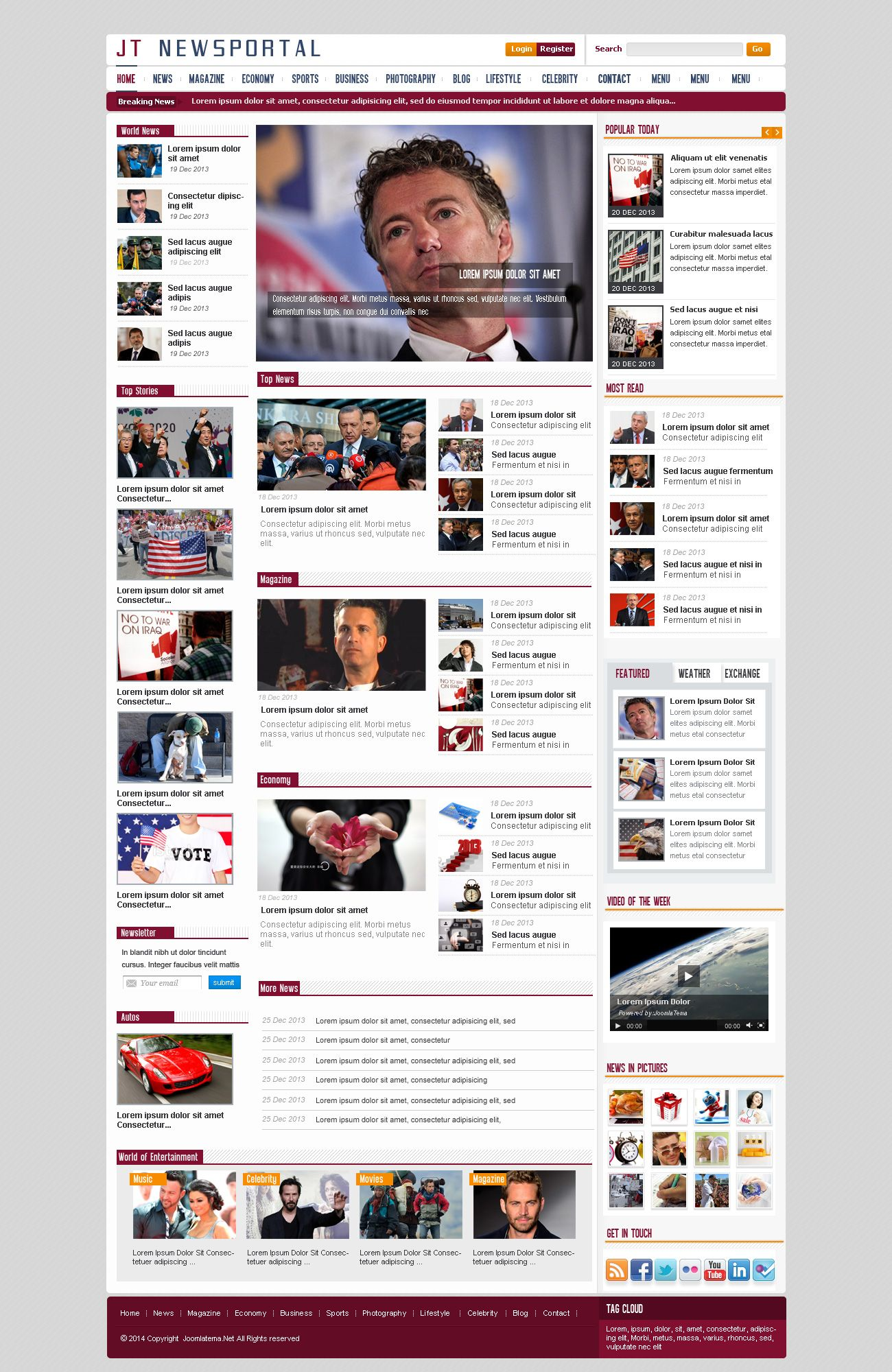 JT News Portal PSD Pack Screenshot 14