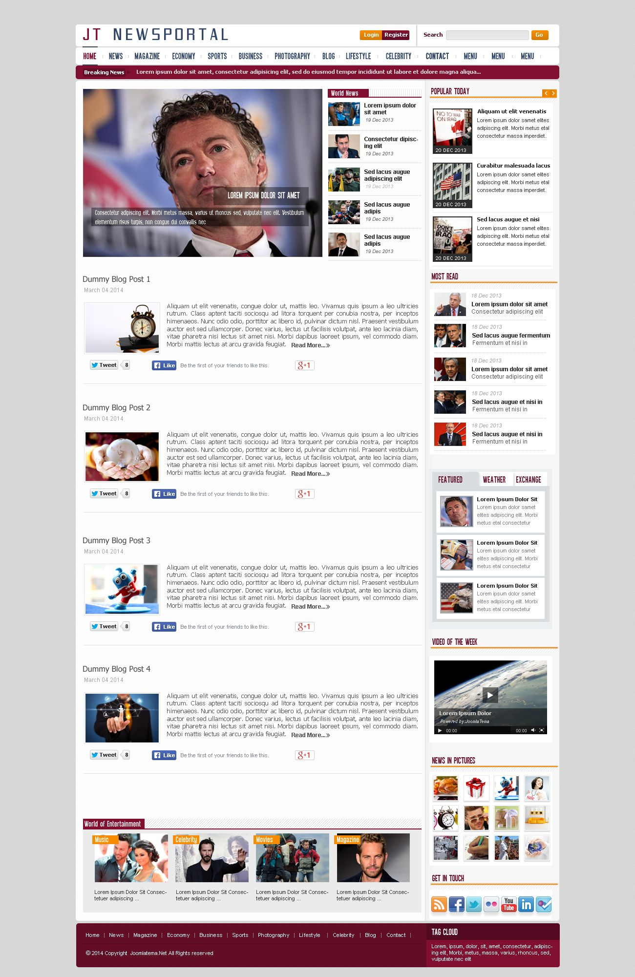 JT News Portal PSD Pack Screenshot 15
