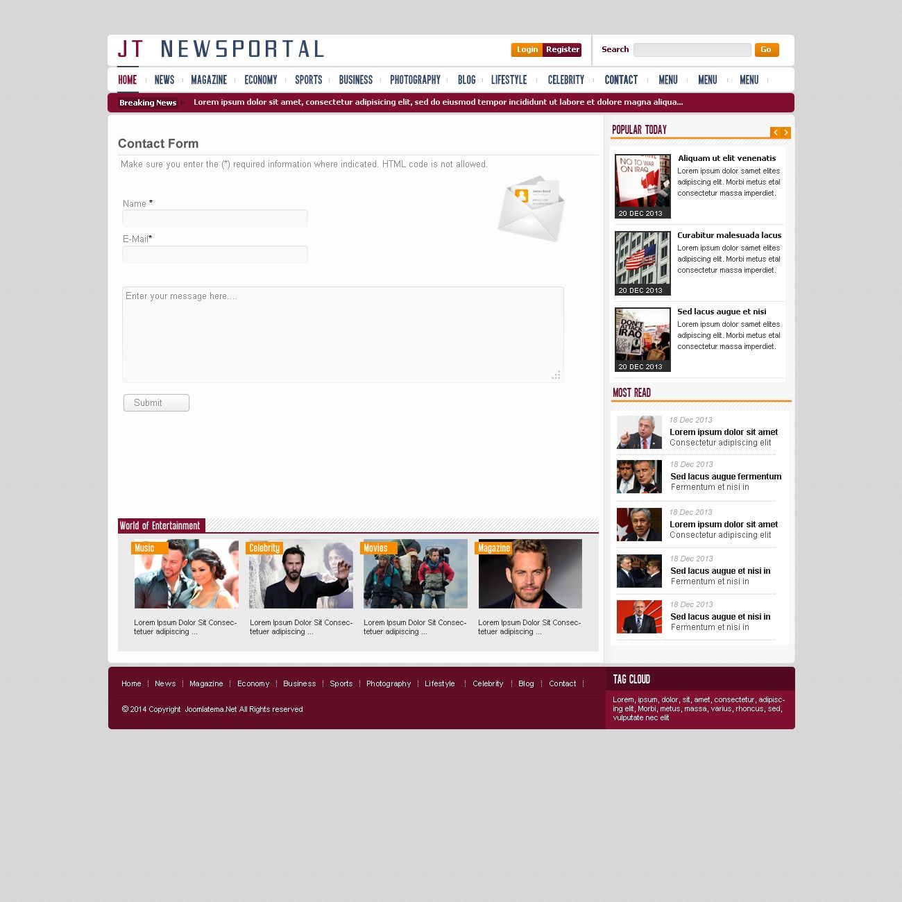 JT News Portal PSD Pack Screenshot 16
