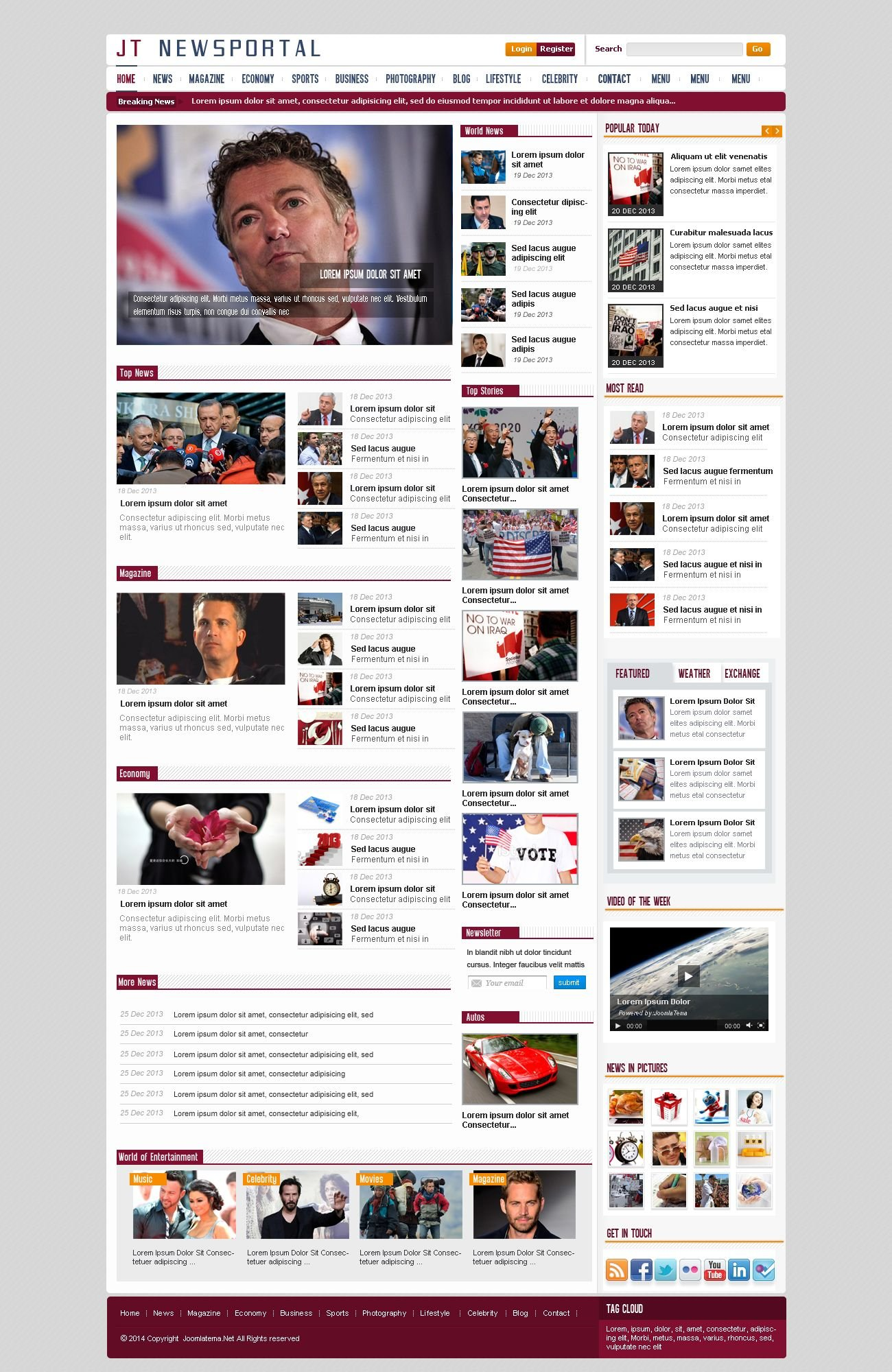JT News Portal PSD Pack Screenshot 19