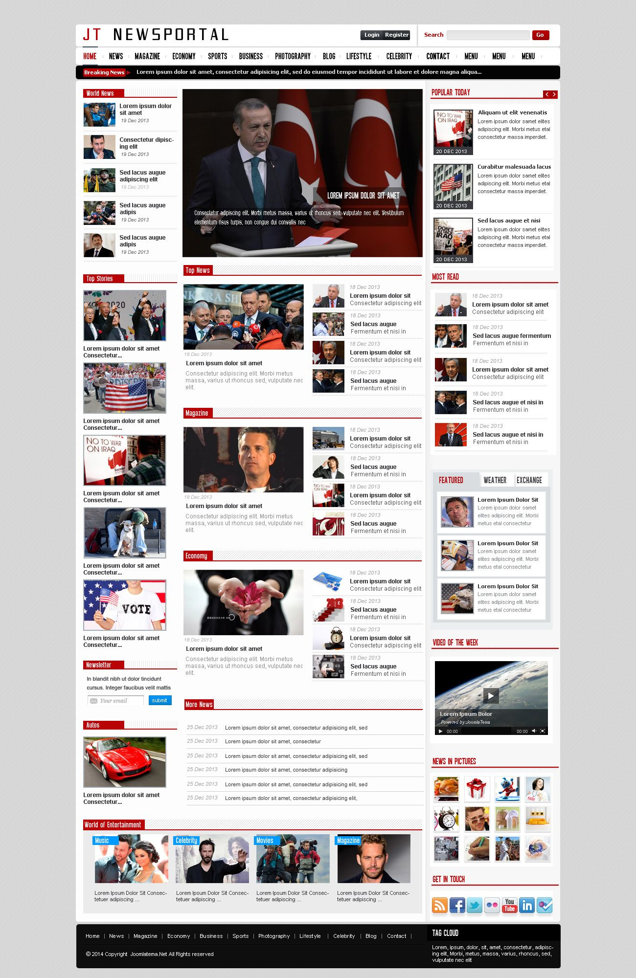 JT News Portal PSD Pack Screenshot 20