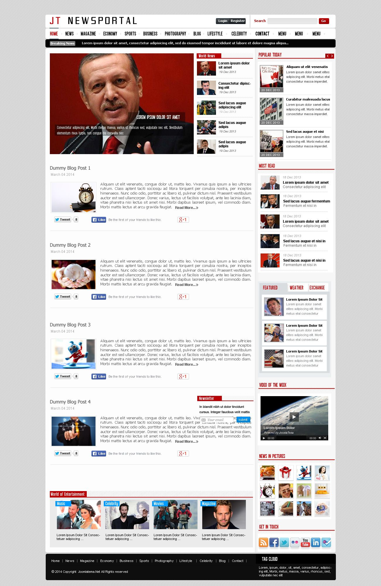 JT News Portal PSD Pack Screenshot 21