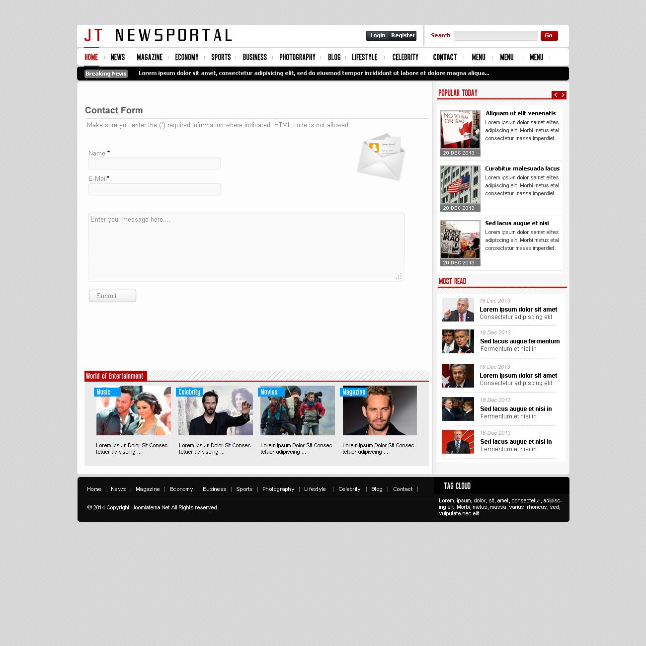 JT News Portal PSD Pack Screenshot 22