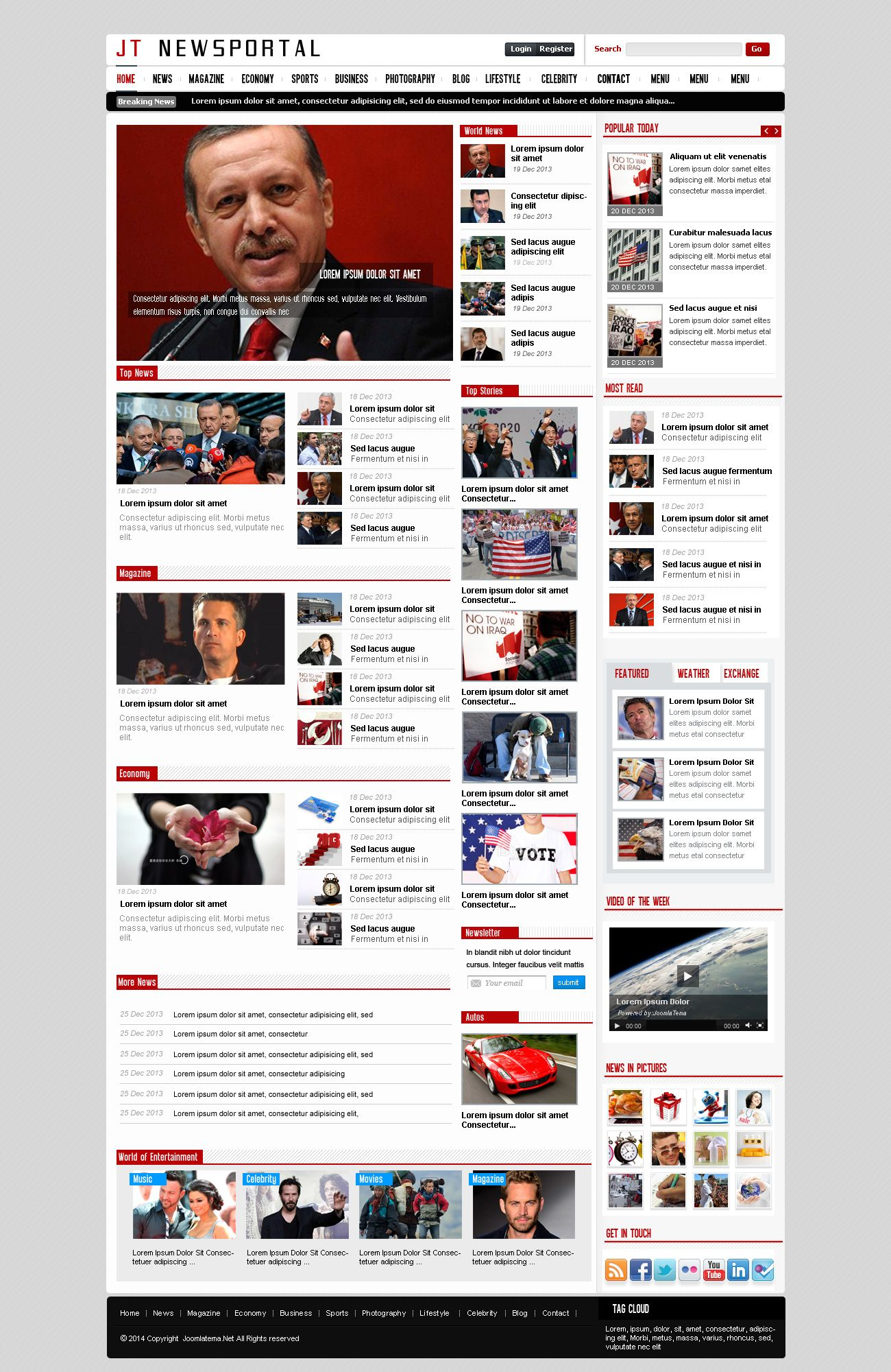JT News Portal PSD Pack Screenshot 25