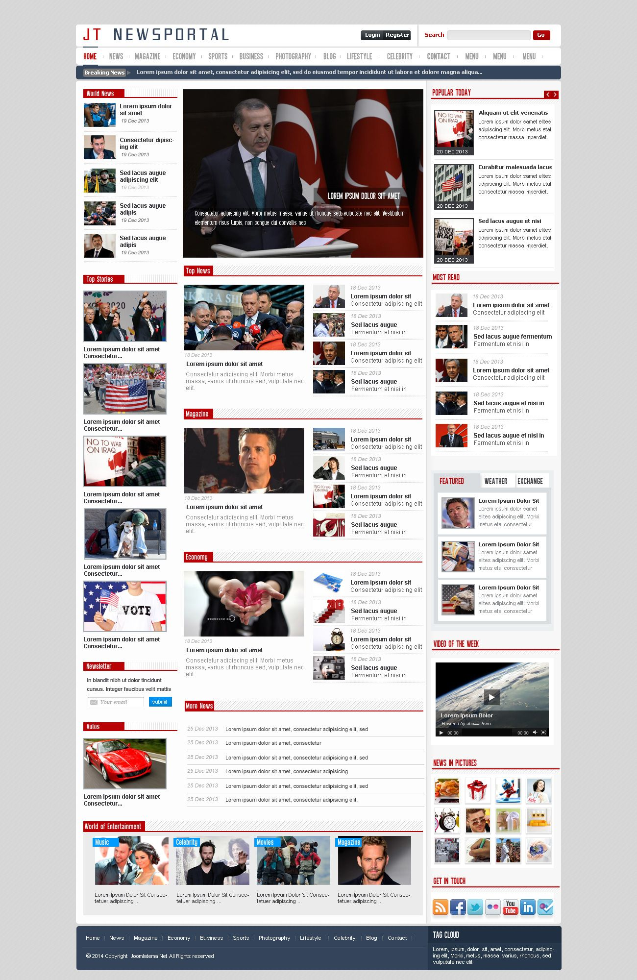 JT News Portal PSD Pack Screenshot 26