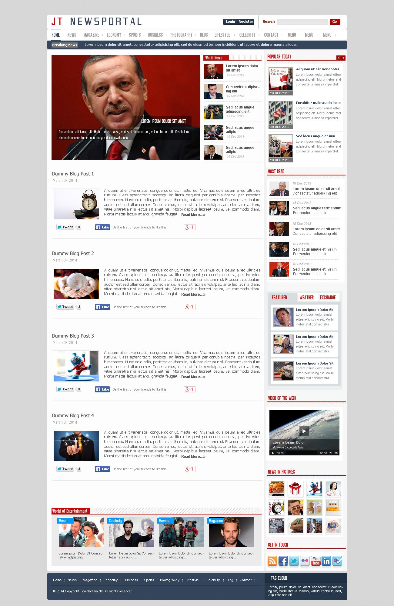 JT News Portal PSD Pack Screenshot 27