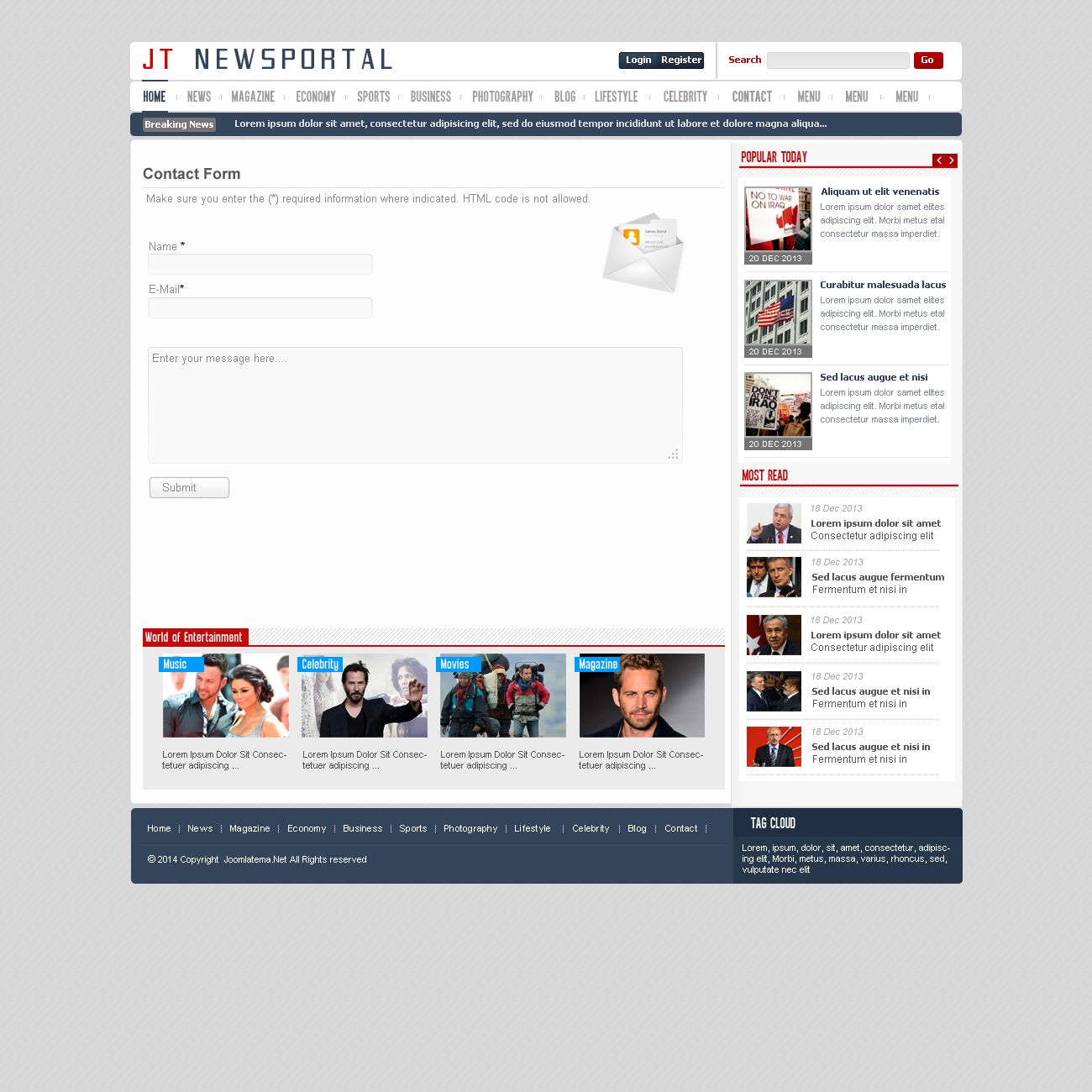 JT News Portal PSD Pack Screenshot 28