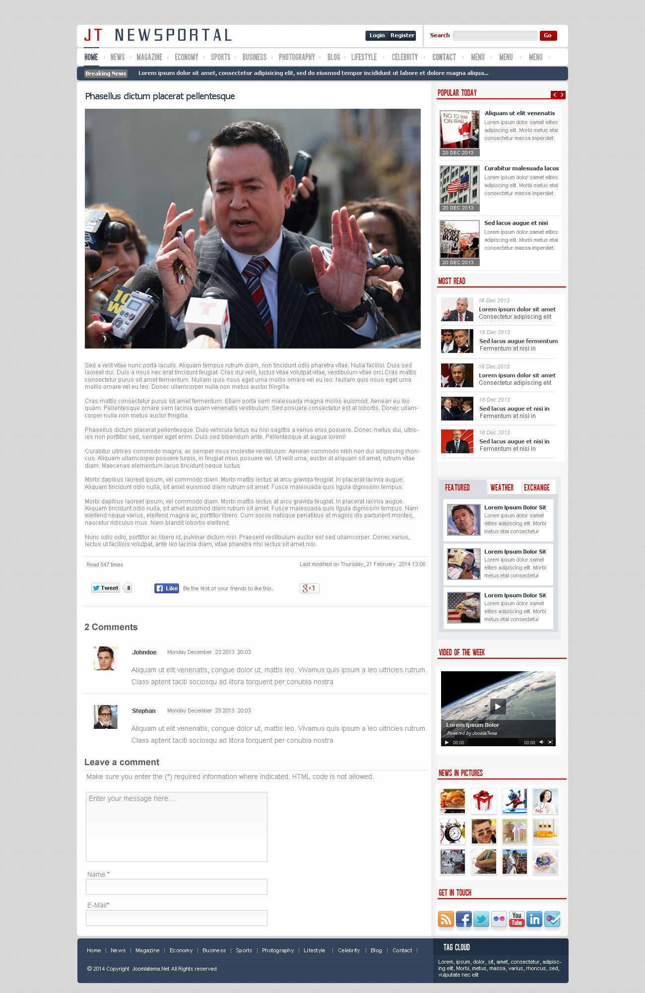 JT News Portal PSD Pack Screenshot 29