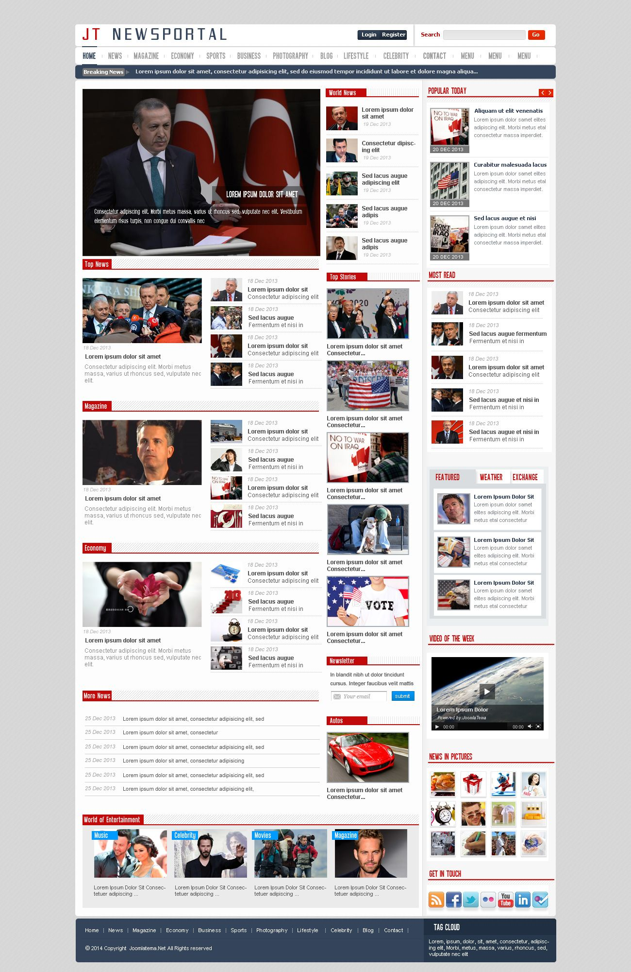 JT News Portal PSD Pack Screenshot 31