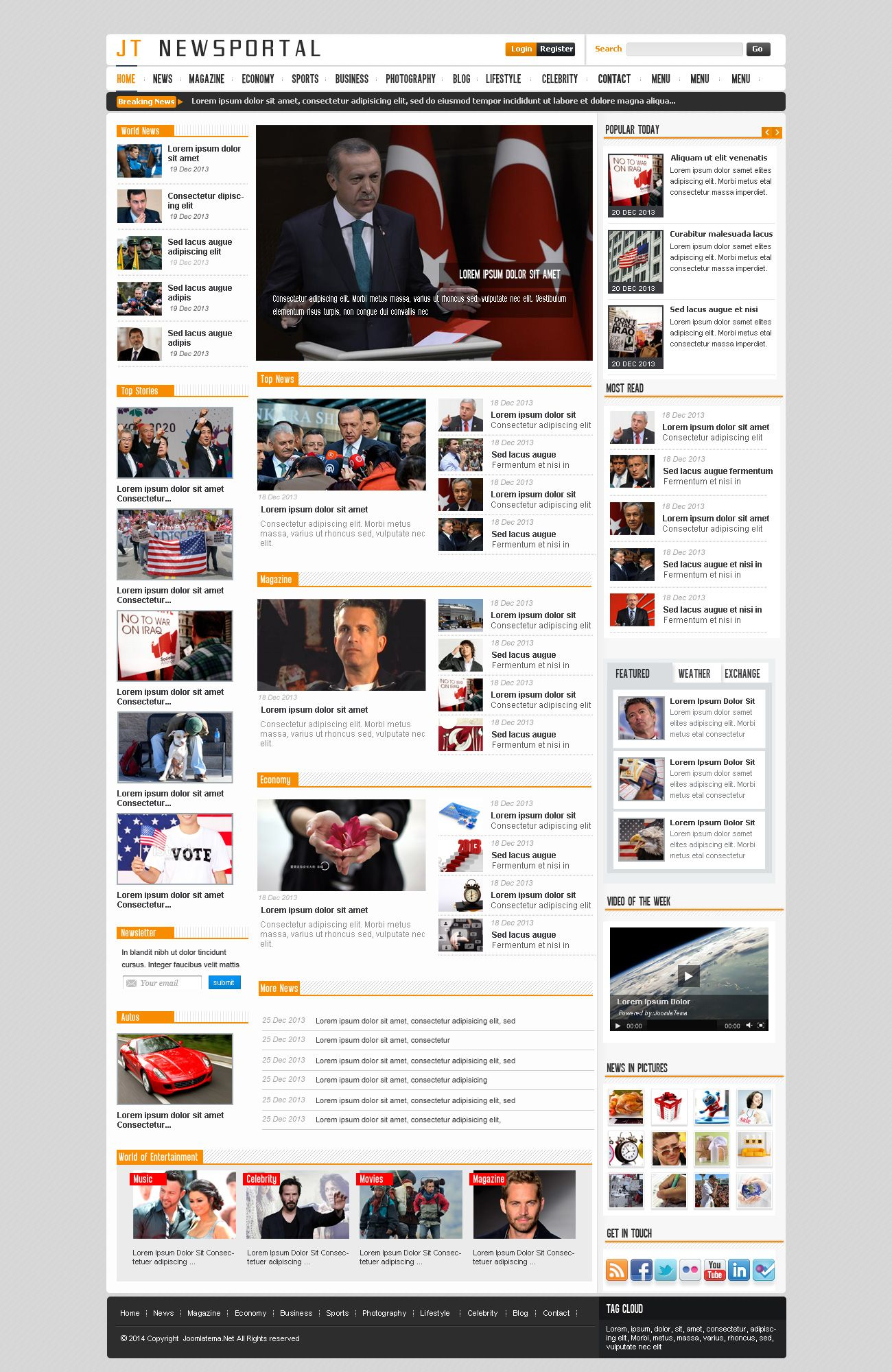 JT News Portal PSD Pack Screenshot 32
