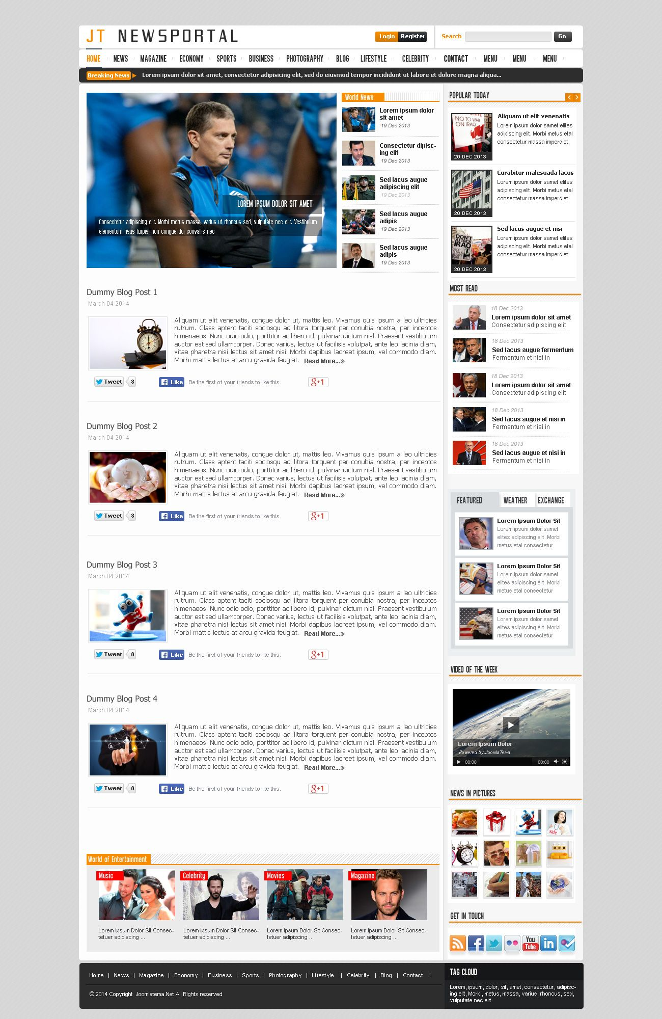 JT News Portal PSD Pack Screenshot 33