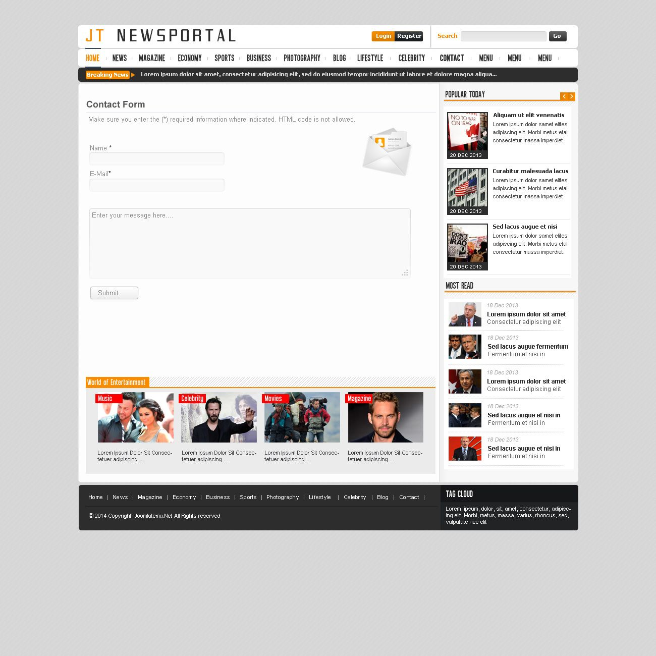 JT News Portal PSD Pack Screenshot 34