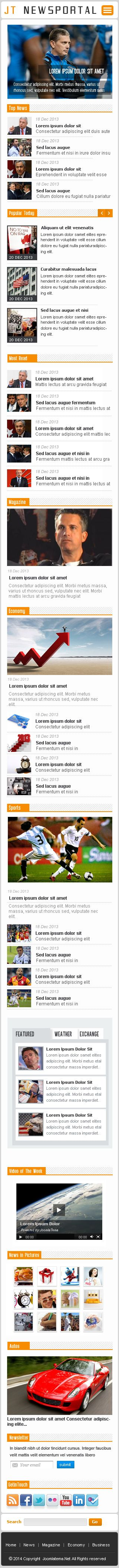 JT News Portal PSD Pack Screenshot 36