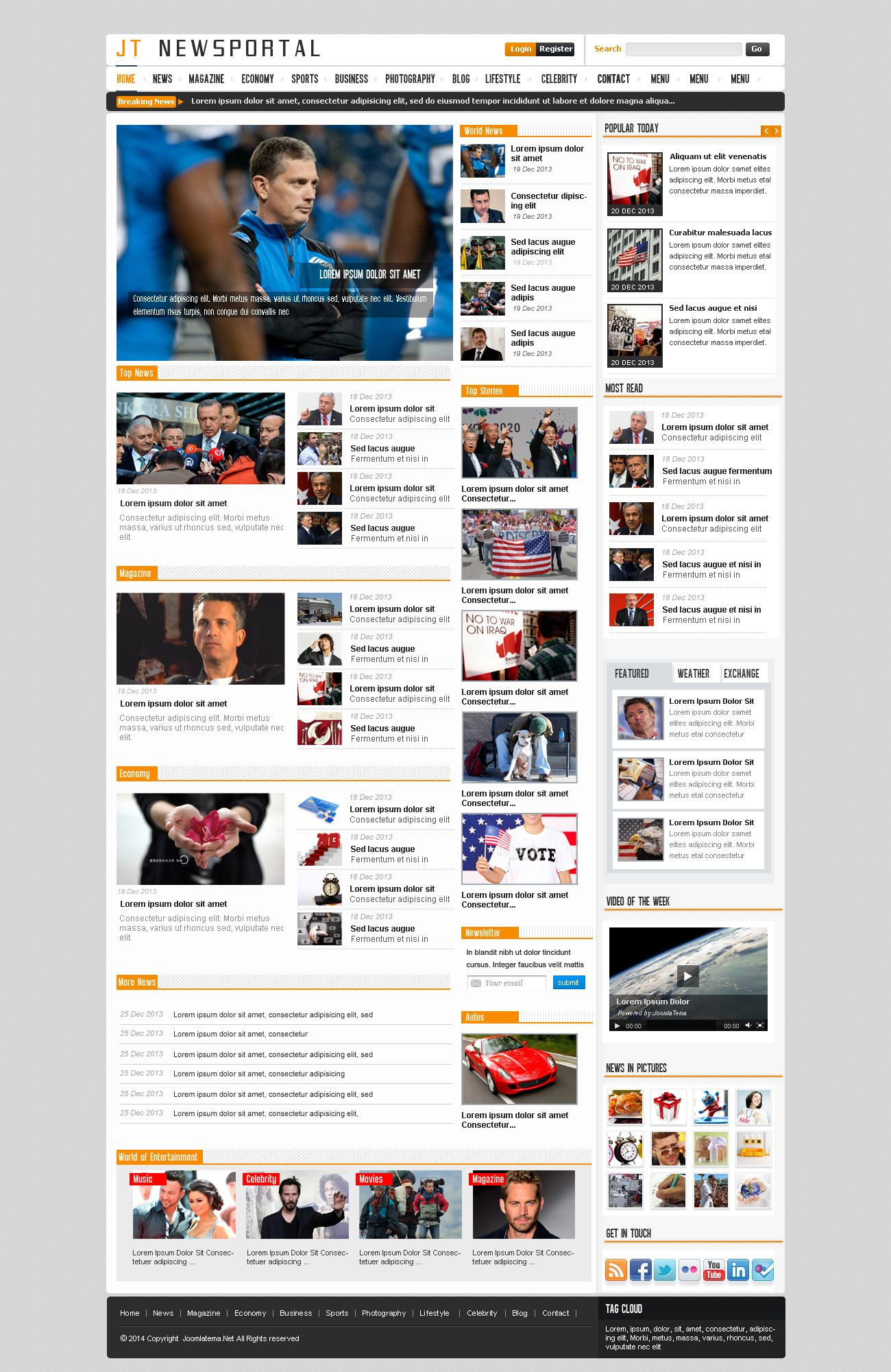 JT News Portal PSD Pack Screenshot 37