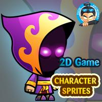 Dark Mage Game Character Sprites