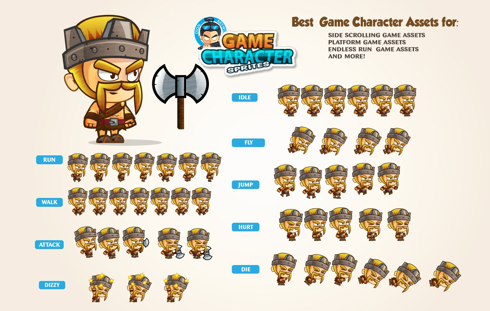 Barbarian King Game Character Sprites Screenshot 1