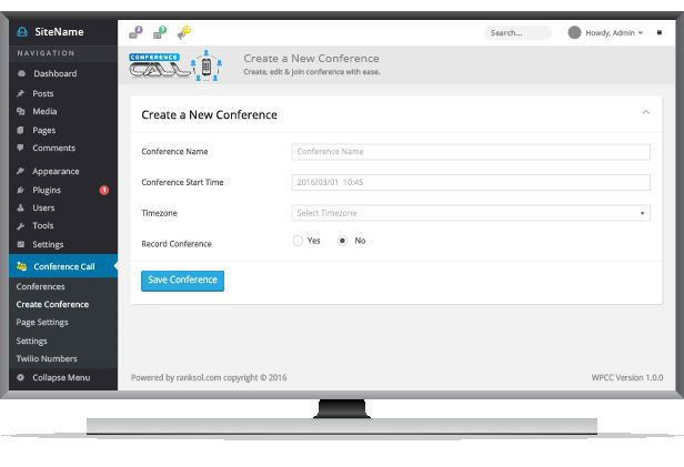 Conference Calling Wordpress Plugin For Business Screenshot 2