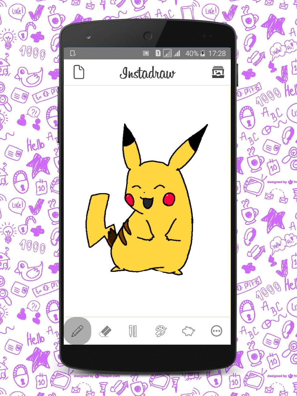 Instadraw - Android Drawing App Template Screenshot 2