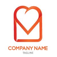 Love Message Logo Template