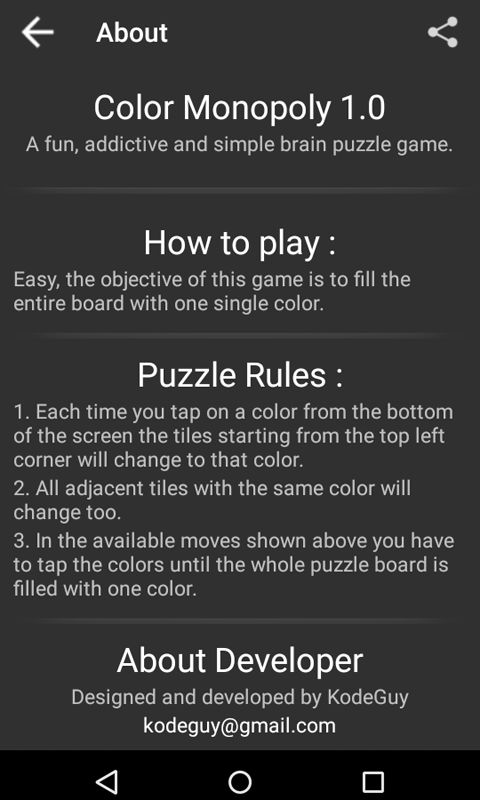 Color Monopoly - Android Game Source Code Screenshot 10