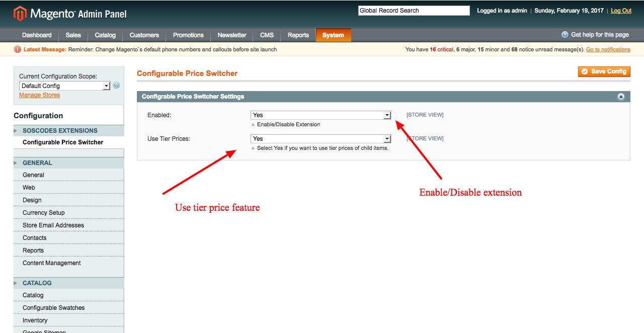 Magento Configurable Product Price Extension Screenshot 1