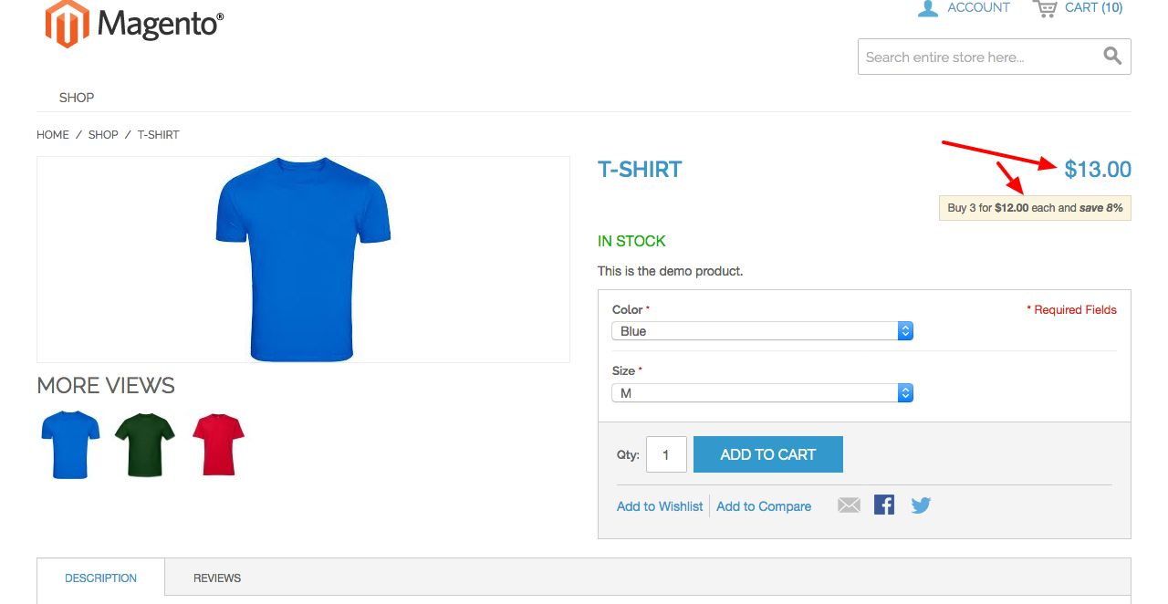Magento Configurable Product Price Extension Screenshot 3