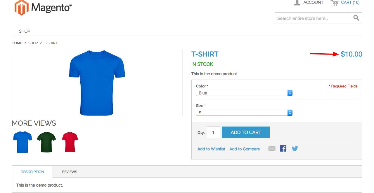 Magento Configurable Product Price Extension Screenshot 4