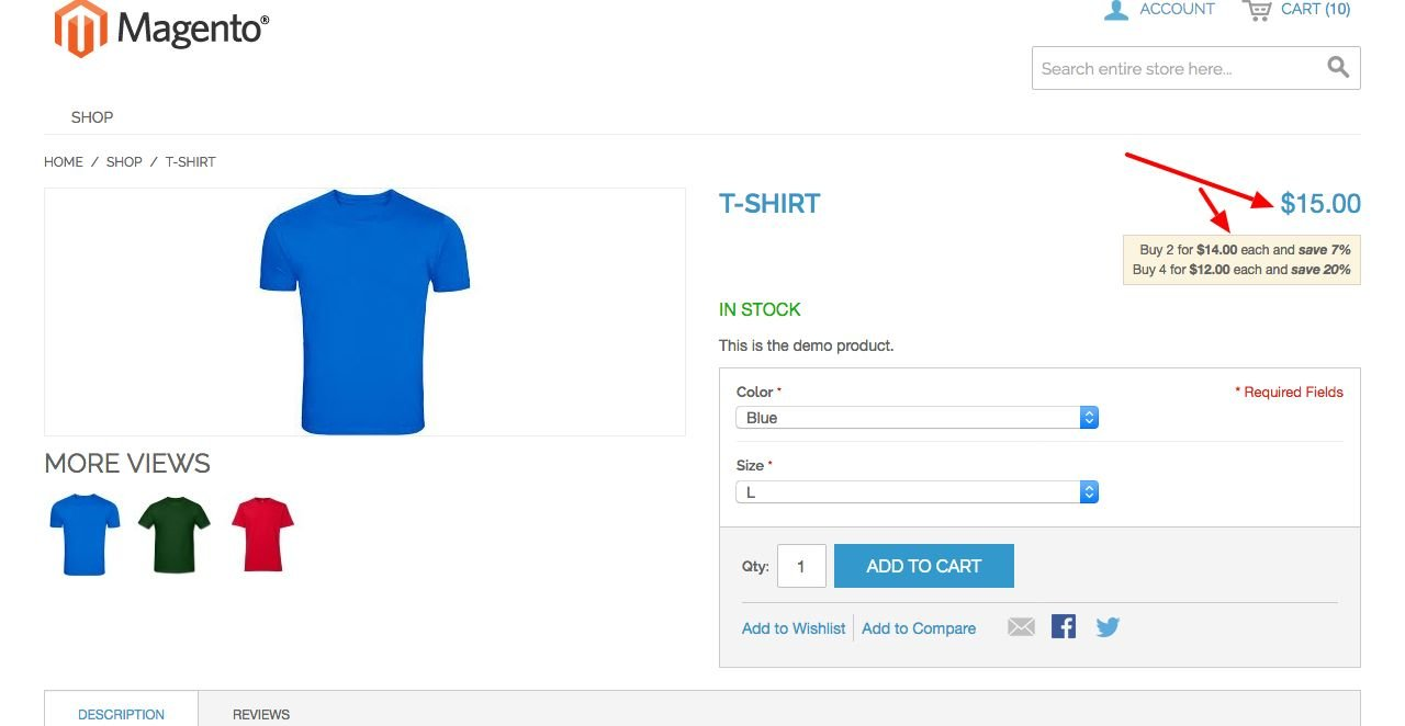 Magento Configurable Product Price Extension Screenshot 5
