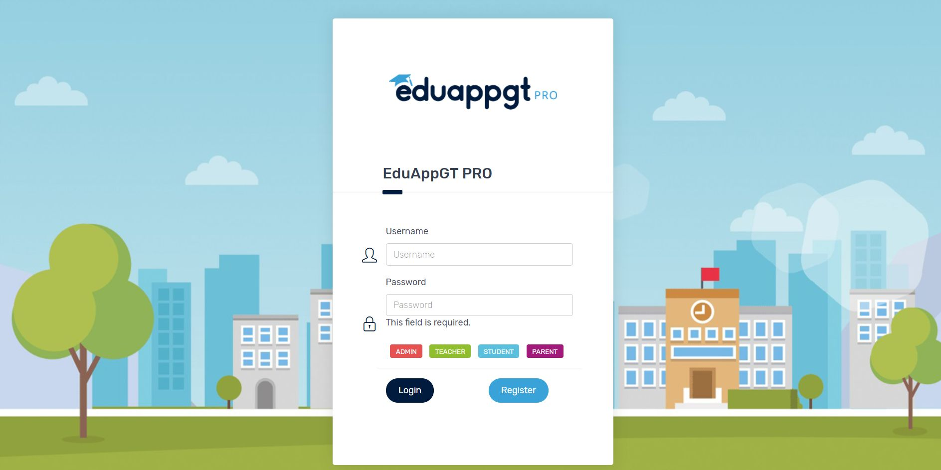 School App - School Management System Screenshot 1