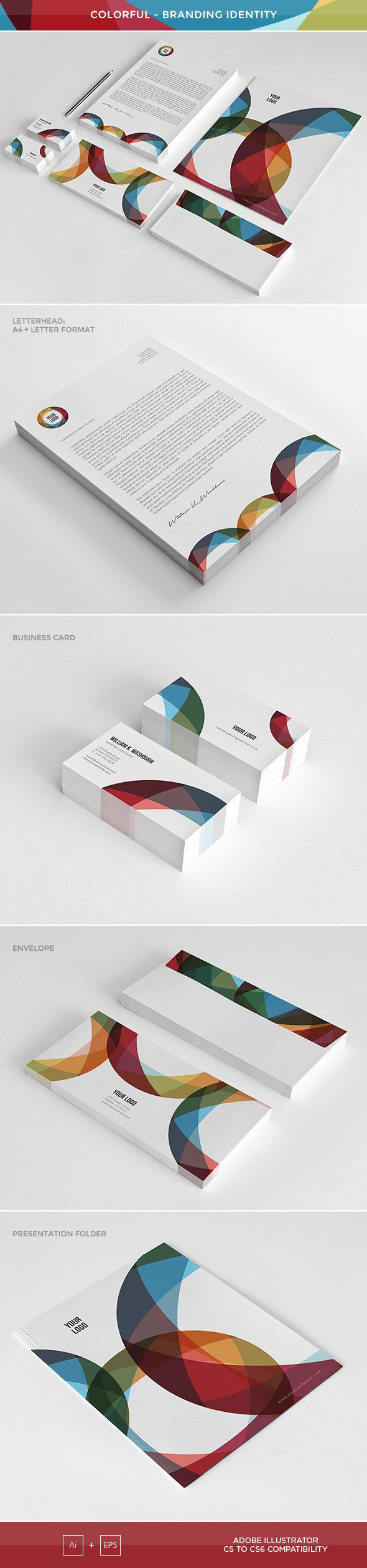 Colorful Brand Identity Template Screenshot 1