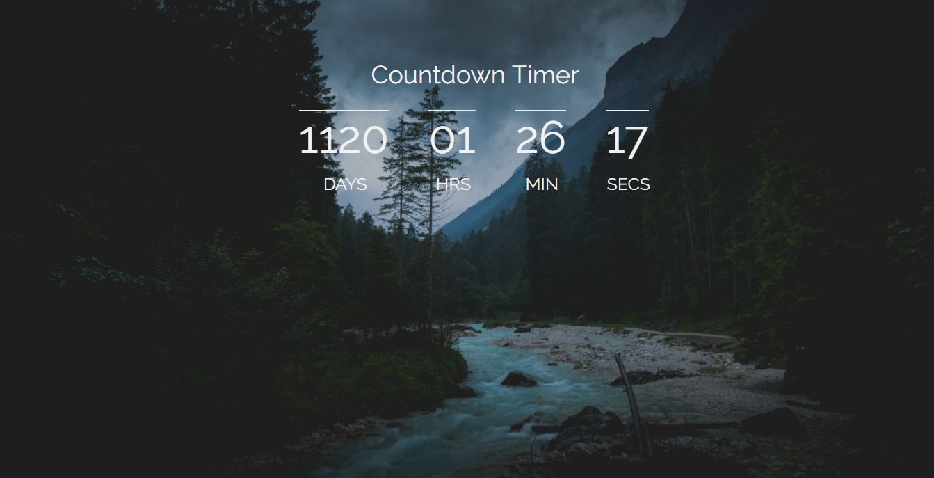 Javascript Countdown Timer Screenshot 1