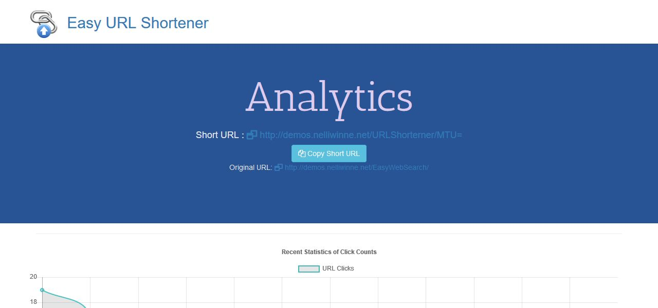Easy URL Shortener With Analytics - PHP MySQL Screenshot 5