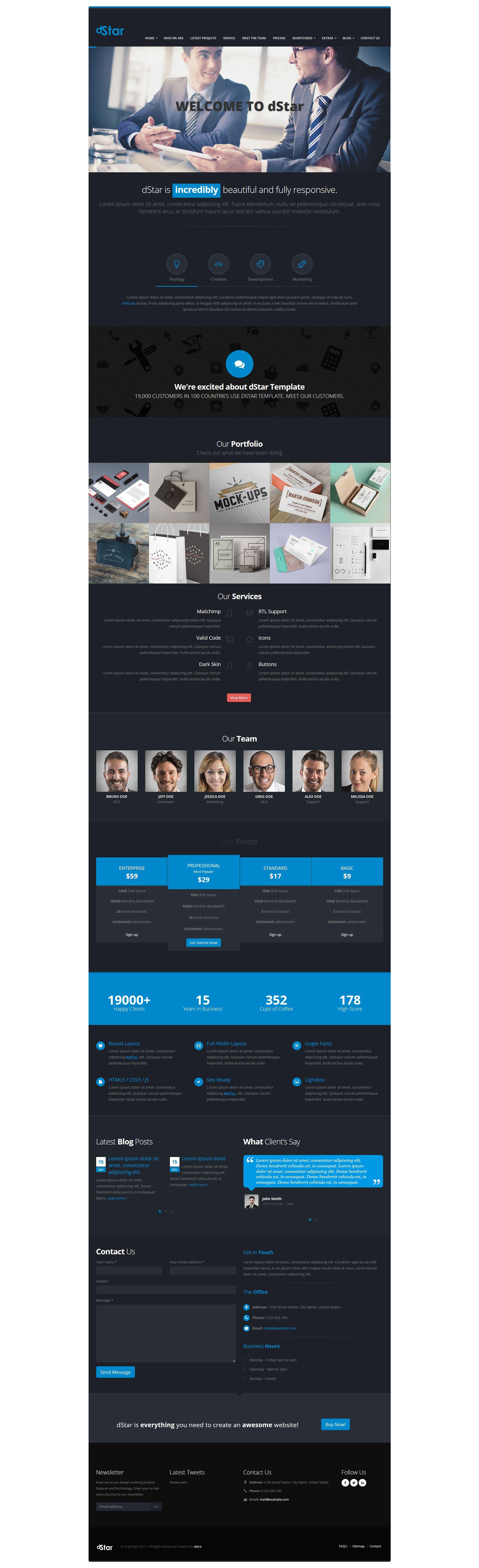 dStar Premium HTML5 Business Template - Business HTML Website ...