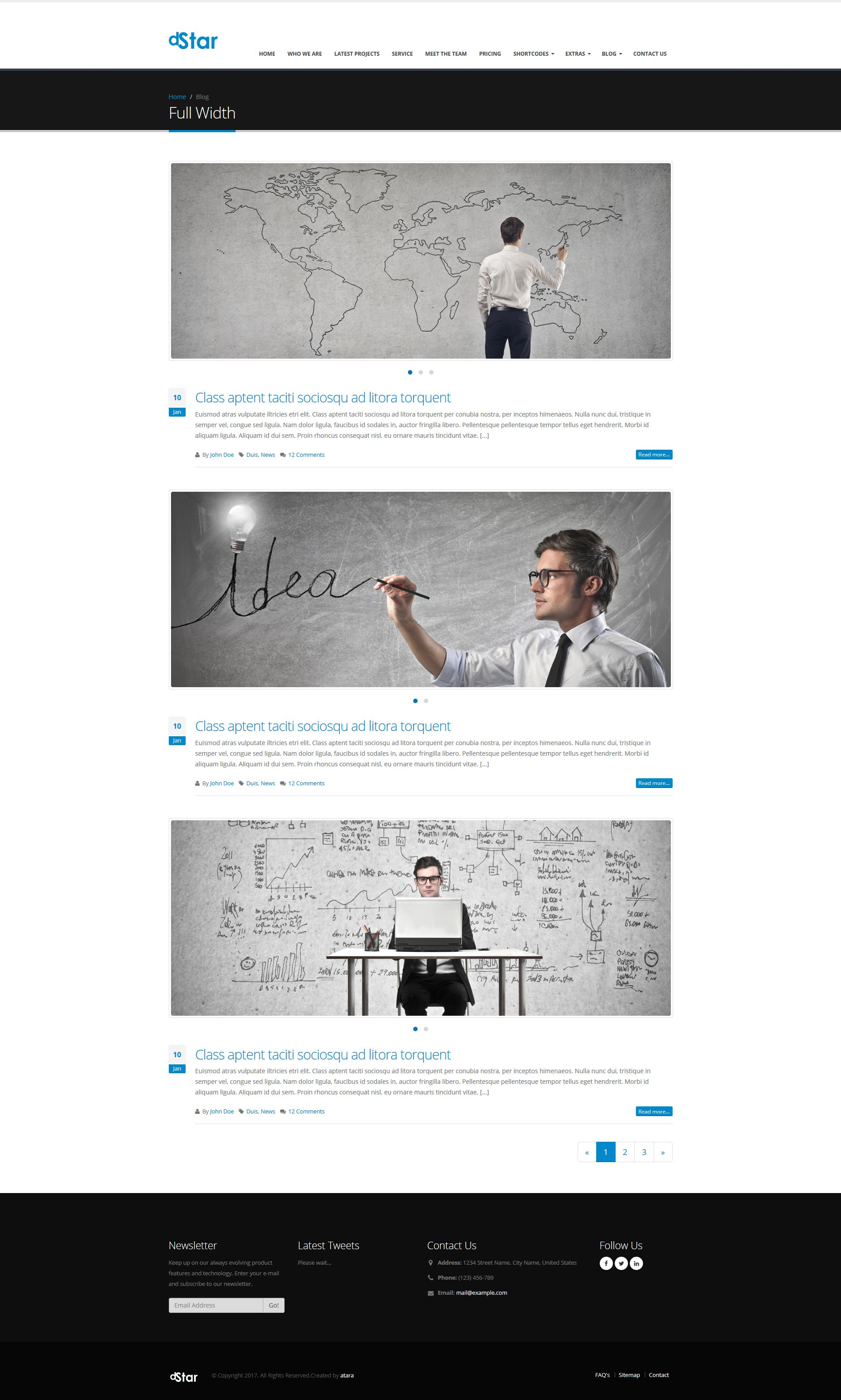 dStar Premium HTML5 Business Template - Business HTML Website ...