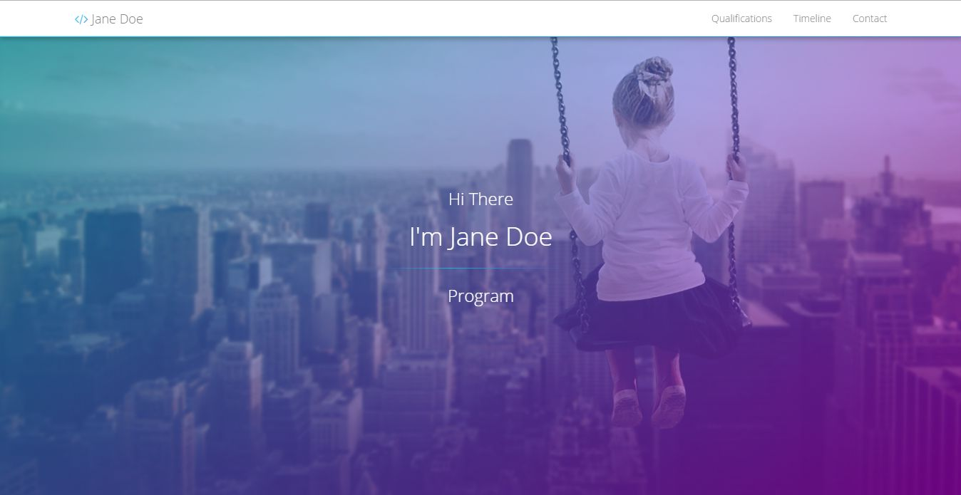 Resume Web Template With Timeline HTML Resume Website Templates – Timeline Website Template
