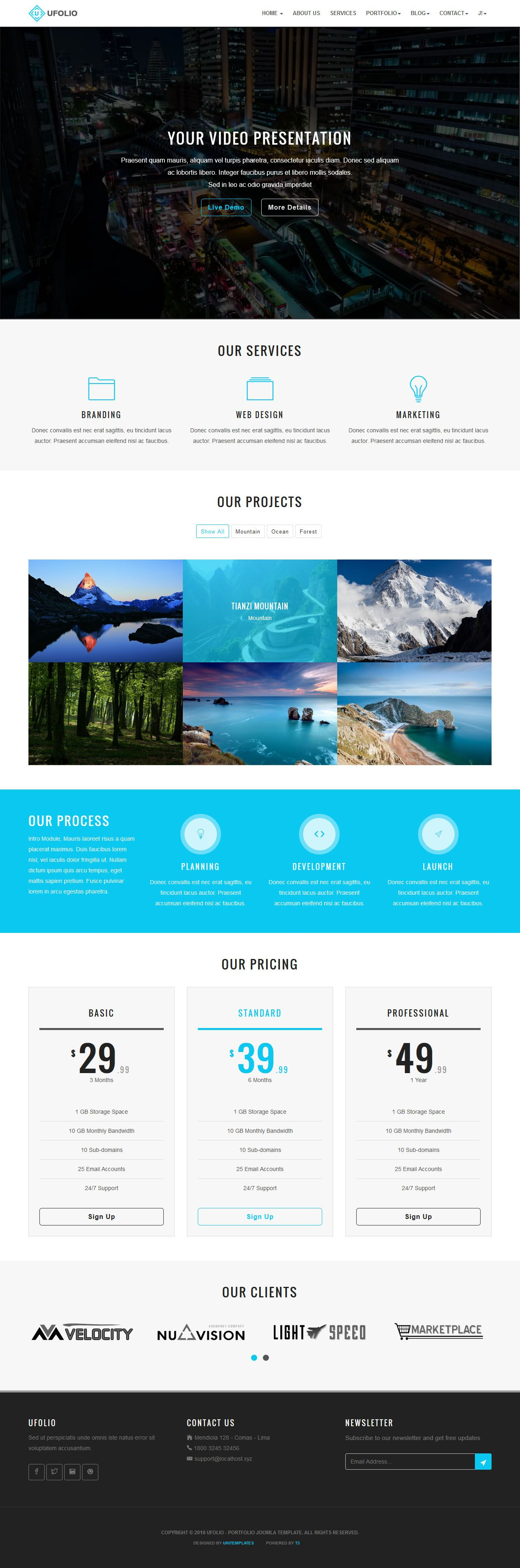 Ufolio - Portfolio Joomla Template Screenshot 3