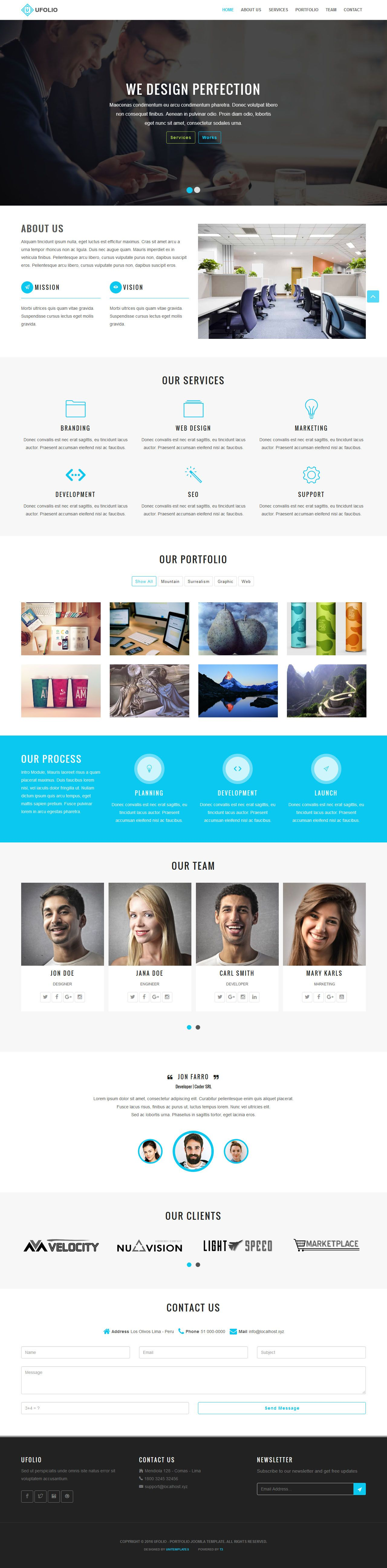 Ufolio - Portfolio Joomla Template Screenshot 6