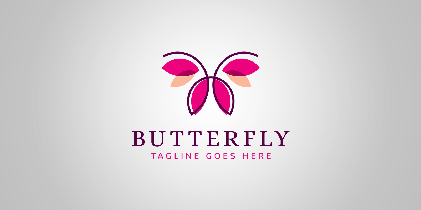 Simple Butterfly Logo Template Fashion Logo Templates