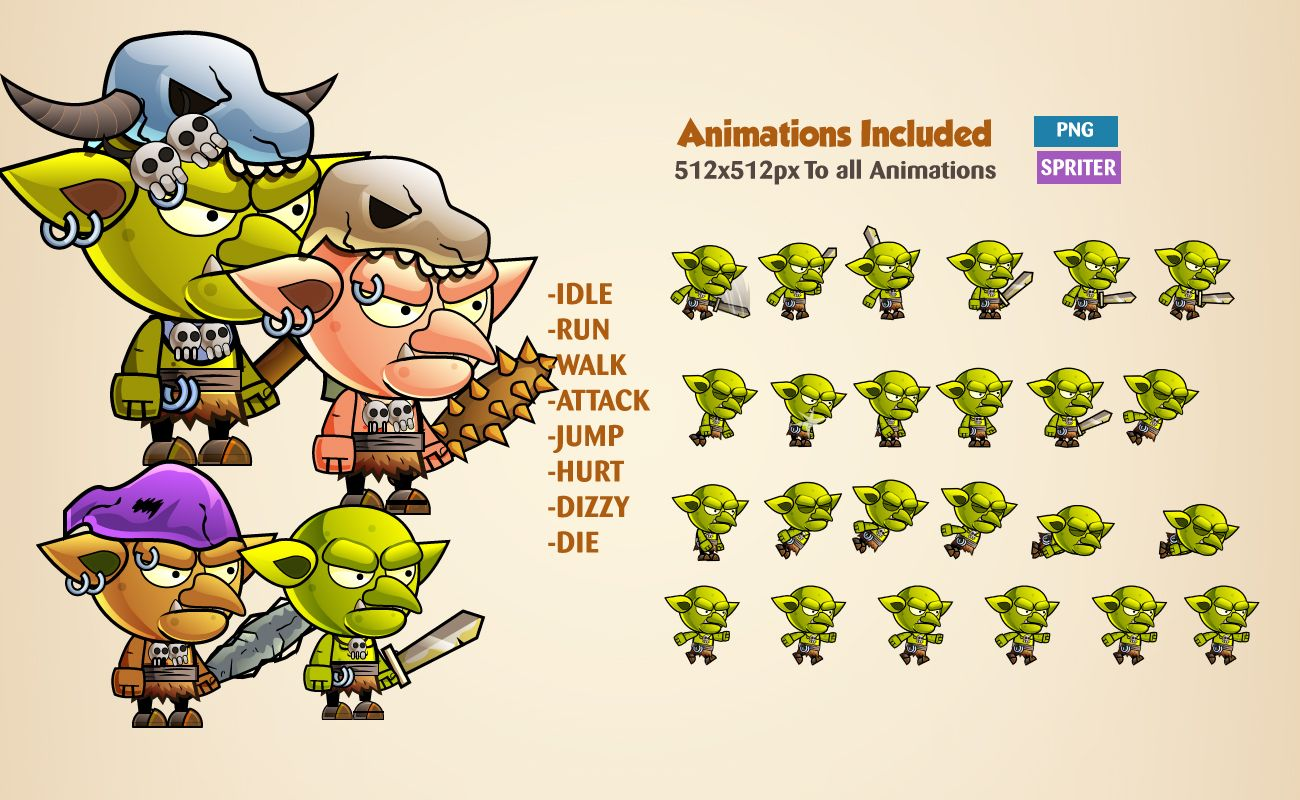 Goblins Game Character Sprites Screenshot 2