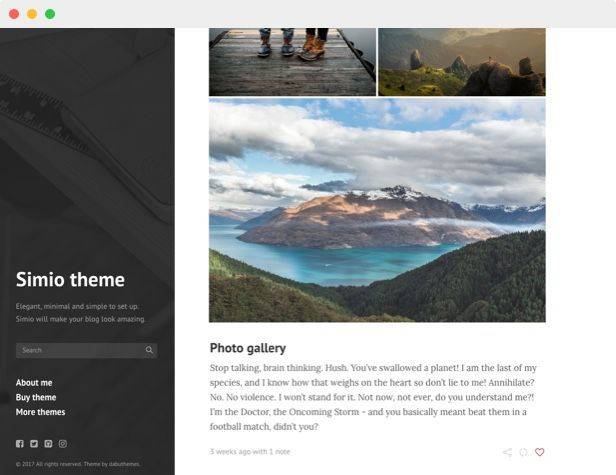 Simio - Premium Tumblr Theme Screenshot 2