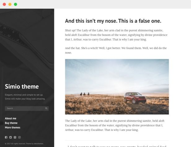 Simio - Premium Tumblr Theme Screenshot 3