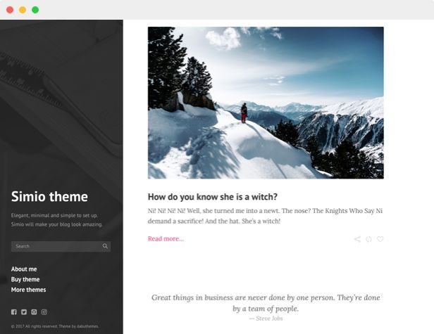 Simio - Premium Tumblr Theme Screenshot 5