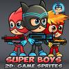 Super Boys 2D Game Sprites
