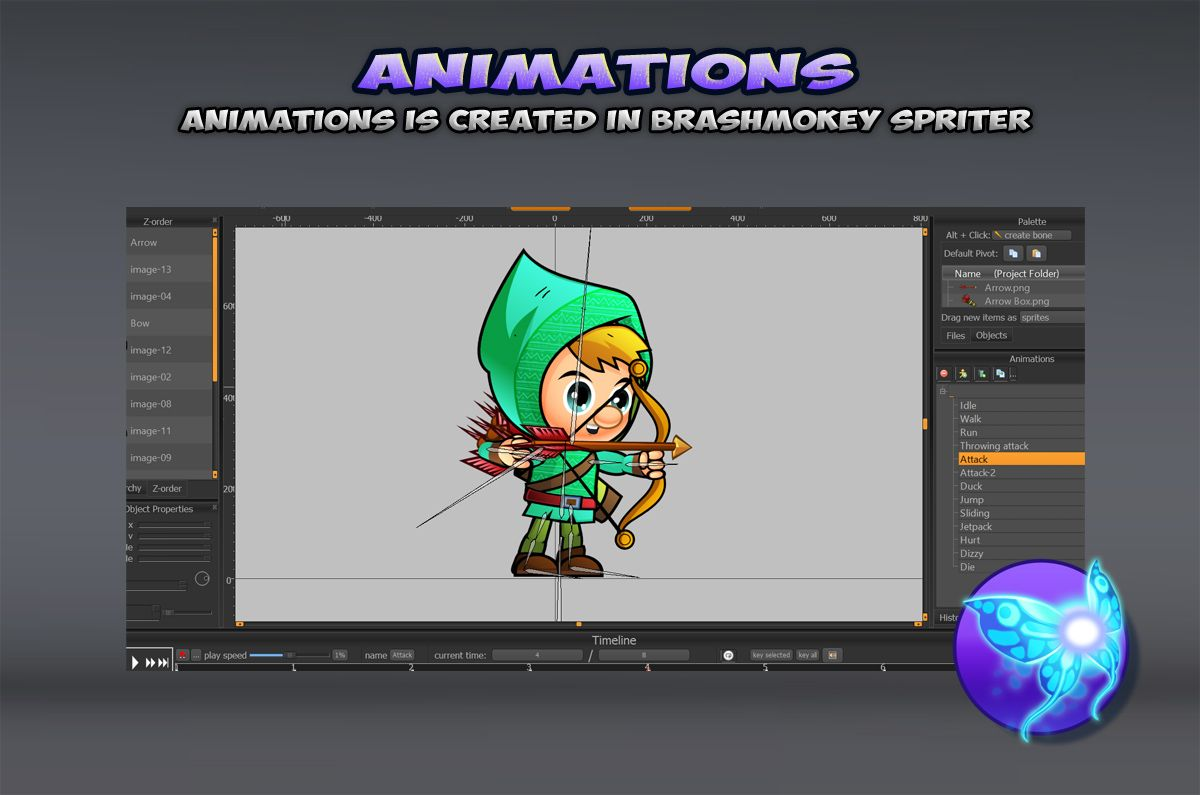 Archers 2D Game Sprites Set Screenshot 4